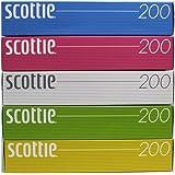日本製紙クレシア スコッティティシュー 400枚 (200組) 5箱パック カラー