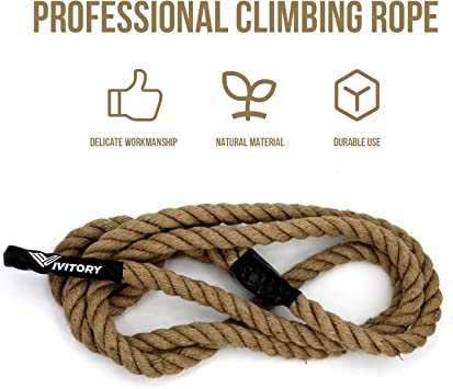 25 30 Ft Workout Gym Climbing Rope Vivitory Gym Fitness Training Climbing Ropes Available 10 15 Home Training and Fitness Workouts,1.5 in Diameter