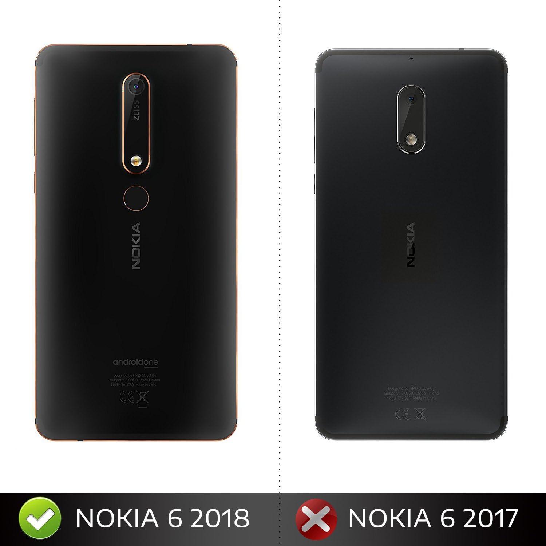 iBetter Nokia 6 2018 Funda, Anti-rasca la Carcasa del teléfono TPU ...