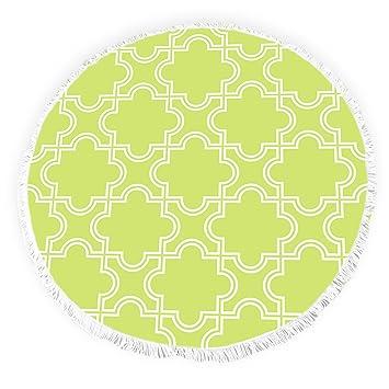 Yun Nist Toallas de playa redondas con borlas modernas marroquíes enrejado acentuado círculo grueso Gypsy alfombra de picnic yoga: Amazon.es: Hogar