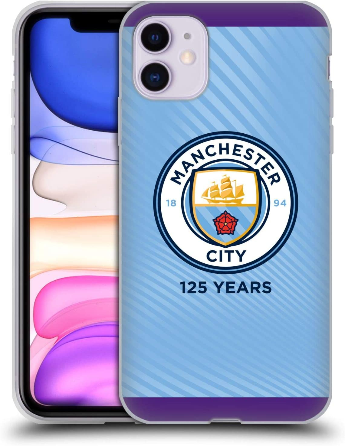 Head Case Designs Officially Licensed Manchester City Man City FC Home 2019/20 Badge Kit Soft Gel Case Compatible with Apple iPhone 11