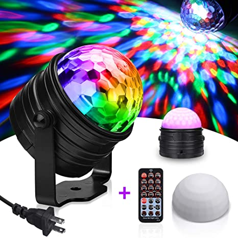 Solmore Rgb Party Lights Sound Activated Disco Ball Strobe Light Disco Lights Dj Lights With Remote Control Led Stage Light For Kids Bedroom Wedding