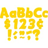 """Teacher Created Resources Yellow Gold Fantastic 4"""" Letters Combo Pack (5818)"""