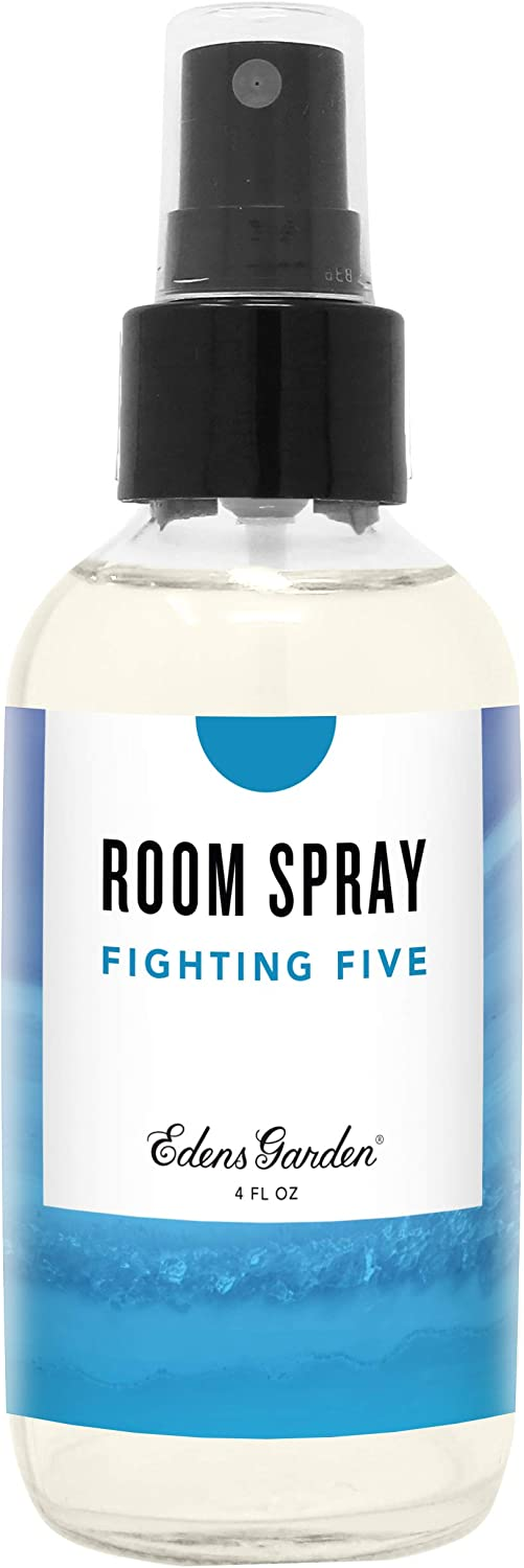 Edens Garden Fighting Five Aromatherapy Room Spray, All Natural & Made with Essential Oils (Great Home Air Freshener - Try Using On Pillows & Linens for Sleep), 4 oz