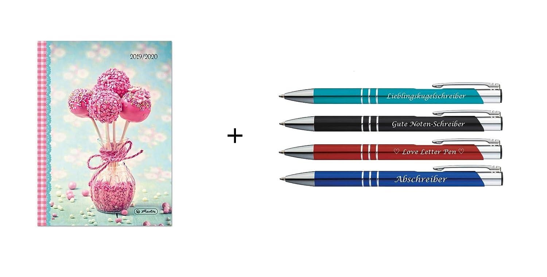 Herlitz - Agenda escolar 2019-2020 / A6 + 4 bolígrafos con ...