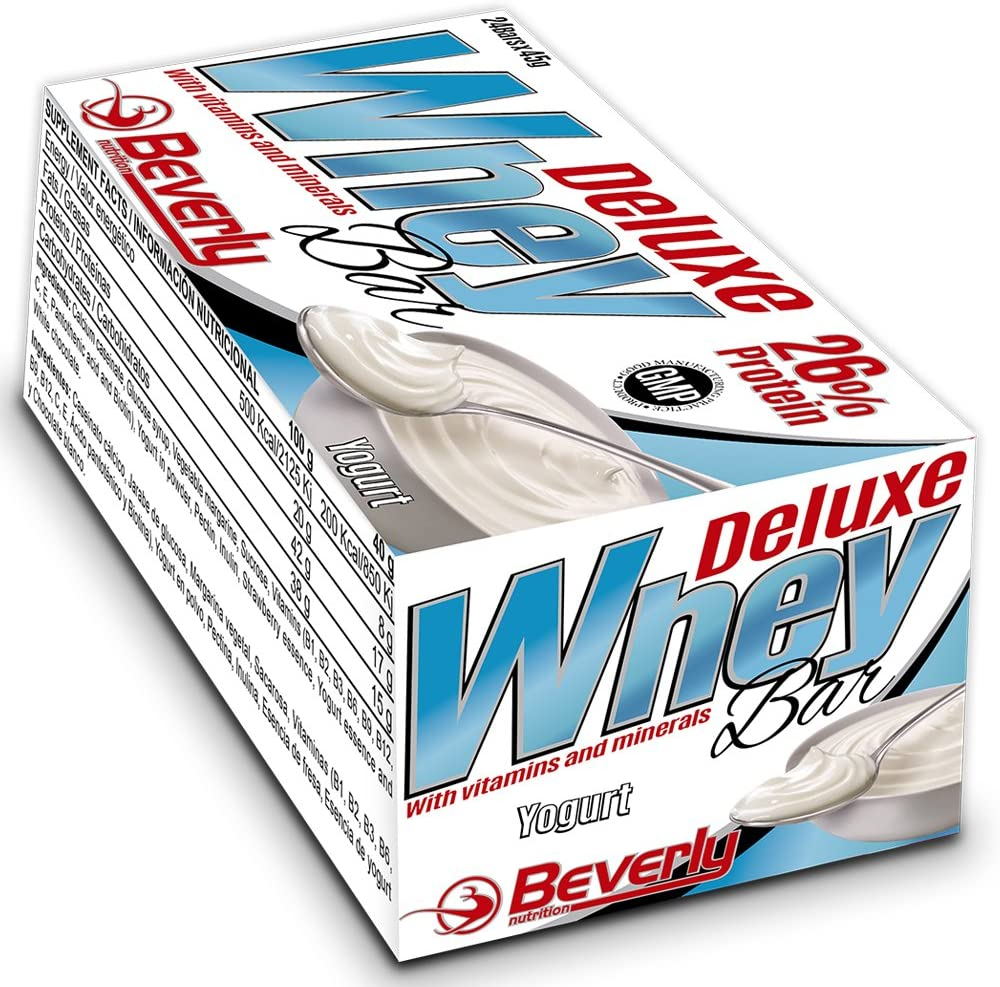 Beverly Nutrition Whey Bar Yogurt Barritas Proteicas - 24 Barras