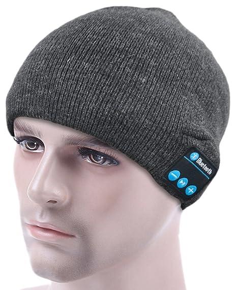 bc07f6e2dcc ULTRICS® Bluetooth Beanie Hat - Warm Unisex Winter Knit  Amazon.co.uk   Electronics