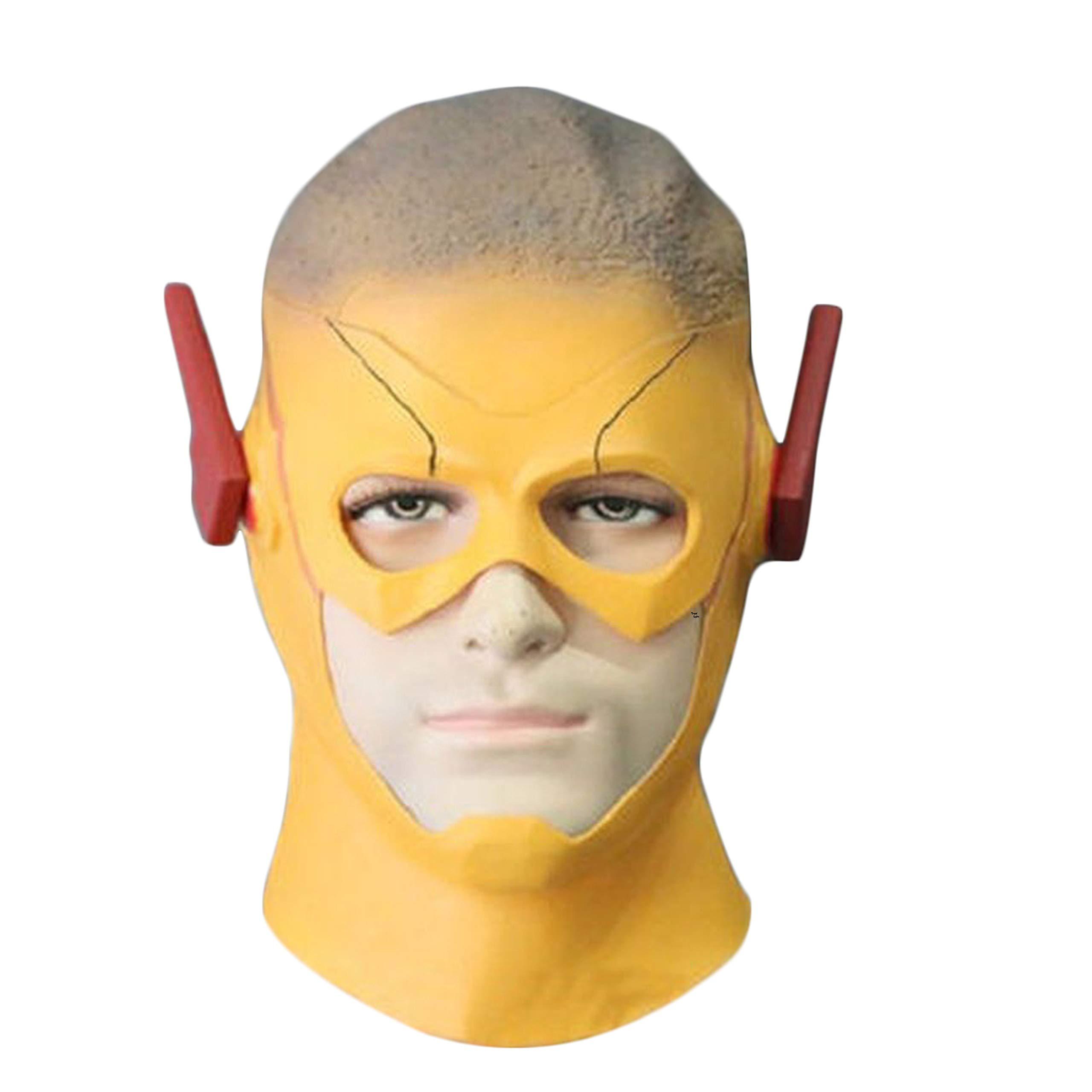 Trippy Lights The Kid Flash Season Ⅲ 3 Wally West Kid Halloween Latex Teen Adult Mask