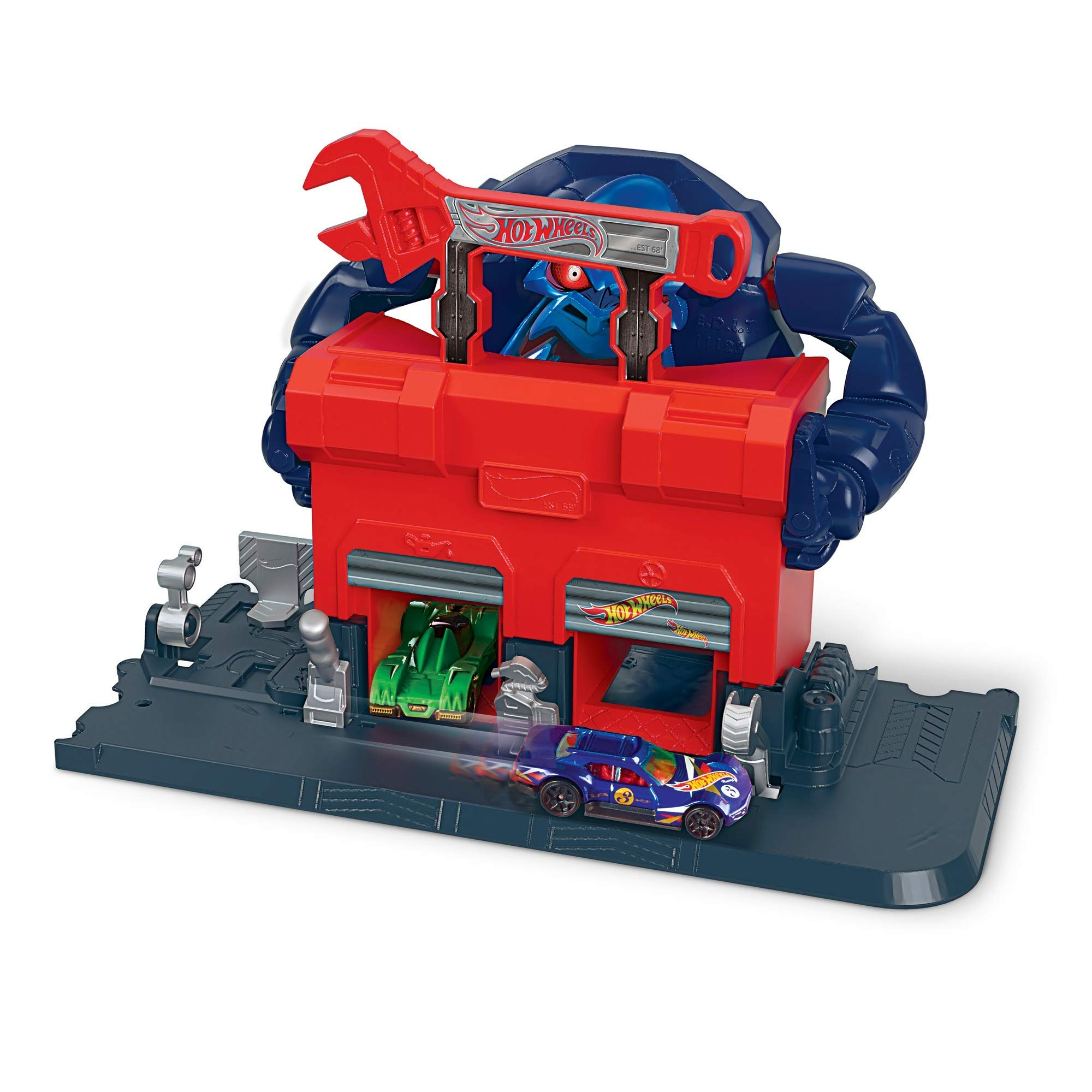 Hot Wheels GJK89 Gorilla Rage Garage Attack Play Set