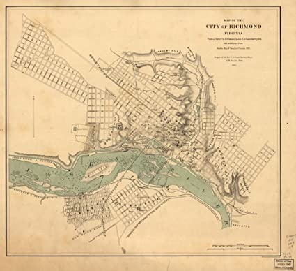 Amazoncom 1864 The City Of Richmond Virginia Richmond United - Richmond-virginia-on-us-map