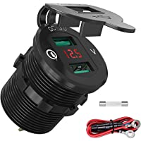 Quick Charge 3.0 USB-autostopcontact, auto-oplader, inbouwbus, 12 V/24 V, waterdicht, sigarettenaansteker, adapter met…