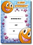 Pack of 16 A6 Teachers Certificates- Smiley Face Theme