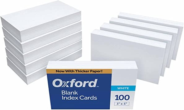 flash cards note cards 400 Blank Business Cards White Color 3.5 x 2 Multi