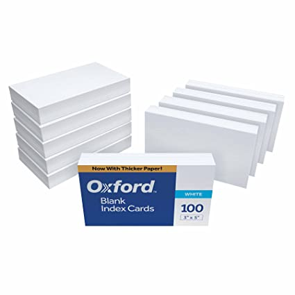 oxford blank index cards 3 x 5 white 1000 cards - Note Cards