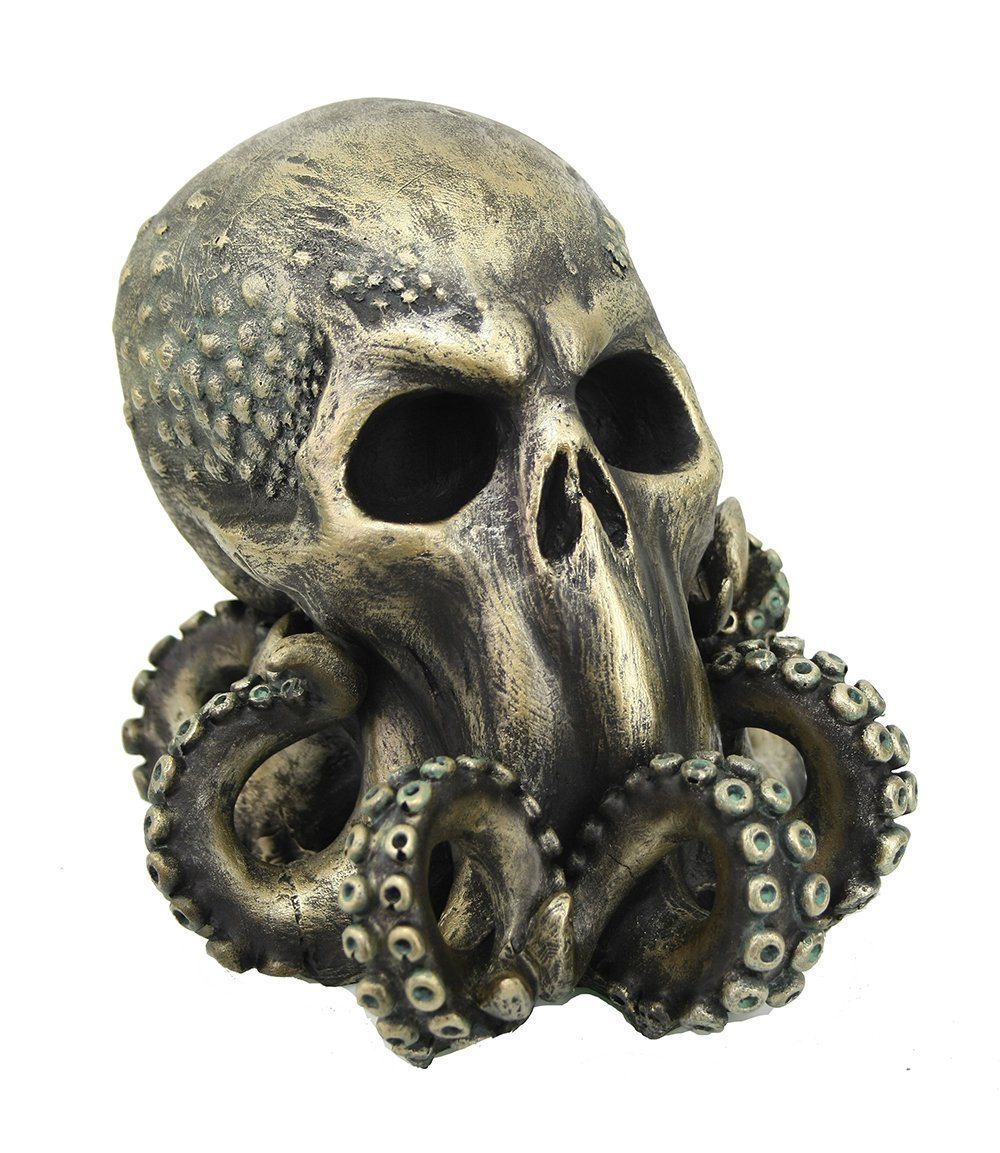 Pacific Giftware Cthulhu Skull Collectible Figurine Antique Bronze Finish 6 Inch Tall Pacific Trading