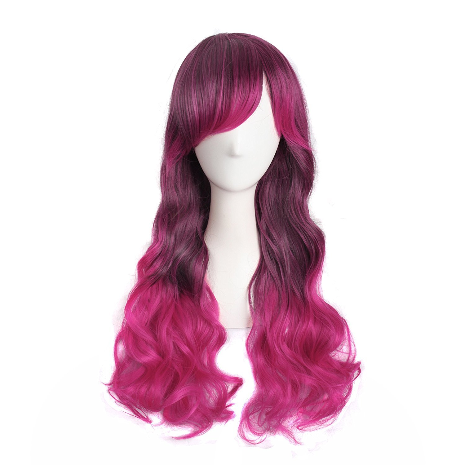 MapofBeauty 26 Harajuku Style Mixed White/ Red Long Cosplay Party Wig (Light Blue/ Pink )