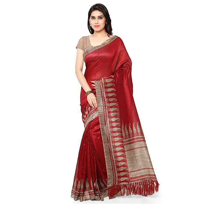 Women's Ethnic Wear Tussar Art Silk Printed Saree