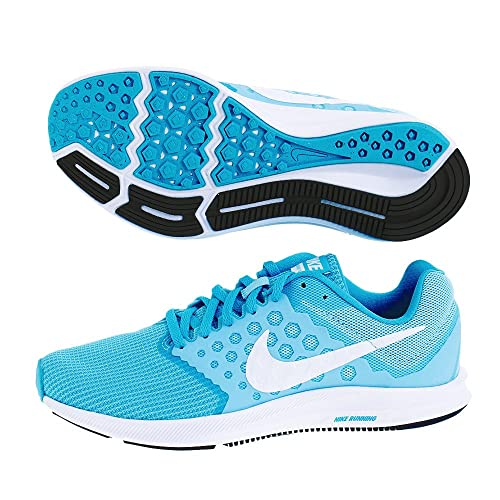 new product 9da46 c286e Nike Downshifter 7 Still Blue White Chlorine Blue Black Women s Running  Shoes  Buy Online at Low Prices in India - Amazon.in