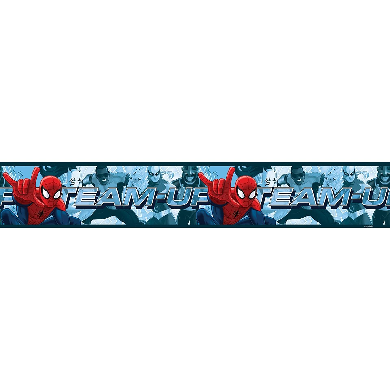 Spiderman Team Up Self Adhesive Wallpaper Border 5m Consalnet