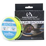 Maxcatch Braided Fly Line Backing for Fly Fishing 20/30lb(White, Yellow, Orange, Black&White, Black&Yellow)