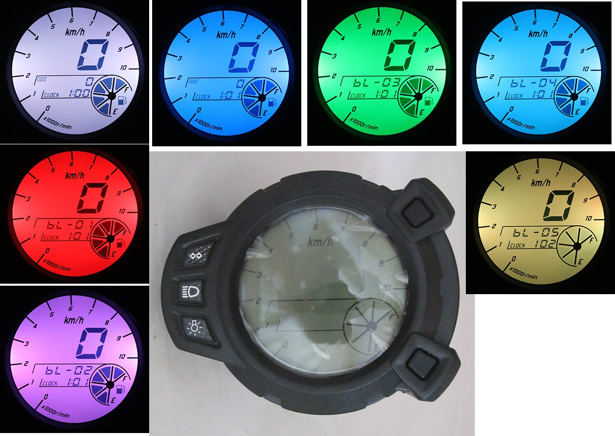 Amazoncom 10000 Rpm Lcd Speedometer Tachometer Scooter Motorcycle Autogage Item Aut233902 The Auto Gage Tach Series Is One Of For Yamaha Zuma Bmk Bws X 125 Yw125 Automotive