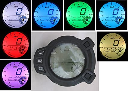 10000 RPM LCD Sdometer Tachometer Scooter Motorcycle for Yamaha Zuma on
