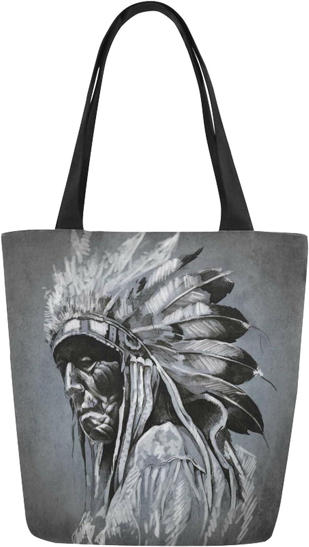 InterestPrint Womens Work Totes Large Capacity Shoulder Bags Tribal Ethnic Art