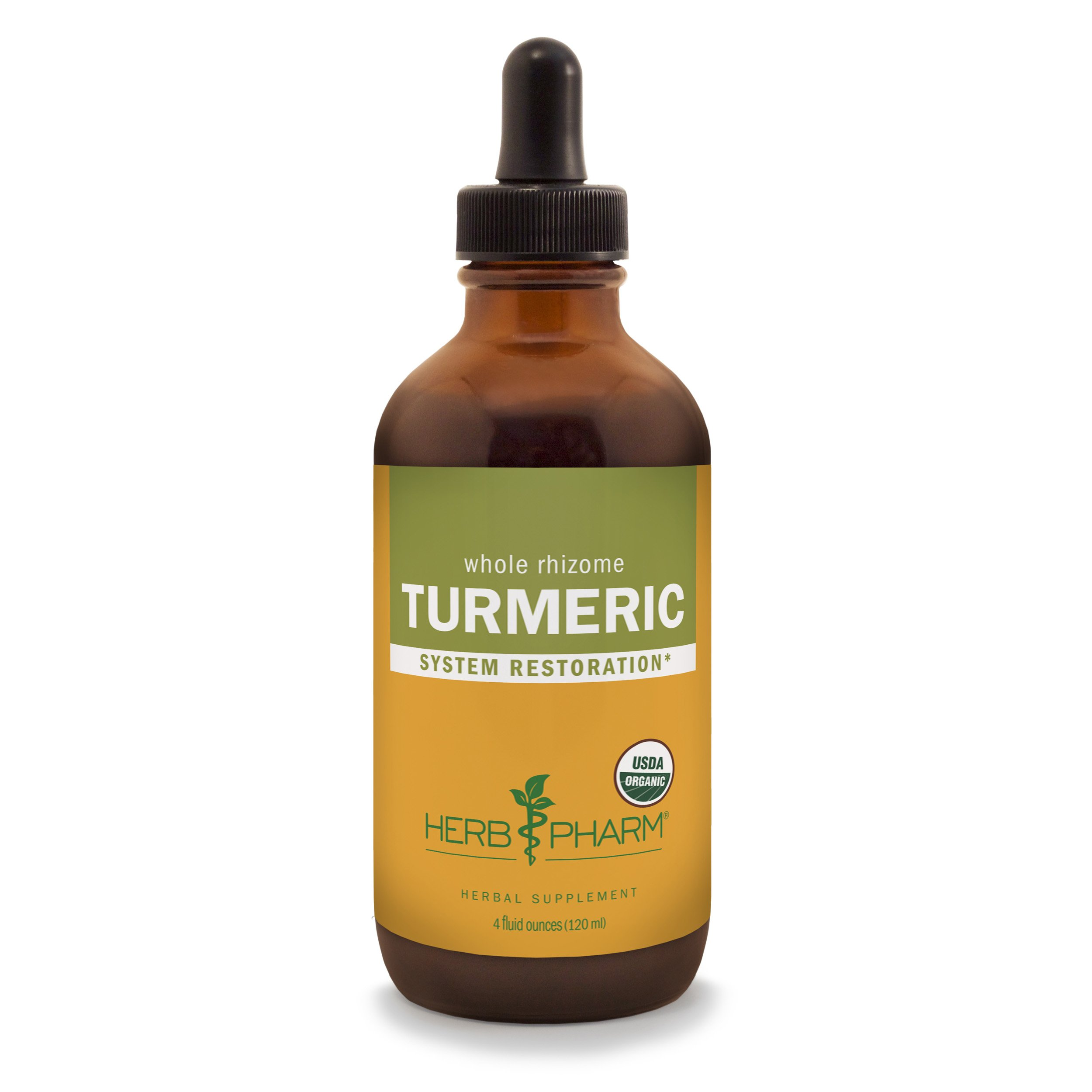 Herb Pharm Certified Organic Turmeric Root Extract for Musculoskeletal System Support - 4 Ounce