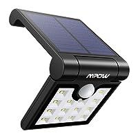 【Conception Pliable】Mpow 14 LED Lampe Solaire Extérieur Portable Etanche avec Détecteur de Mouvement LED Solaire Extérieur pour Jardin, Patio, Escalier, Allée, Garage et Camping