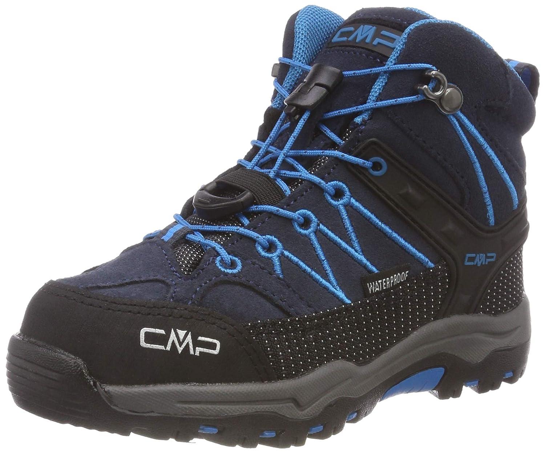 gris (Asphalt-cyano 92bh) 37 EU CMP  - Rigel Mid - Chaussures de Randonnée - Mixte Enfant