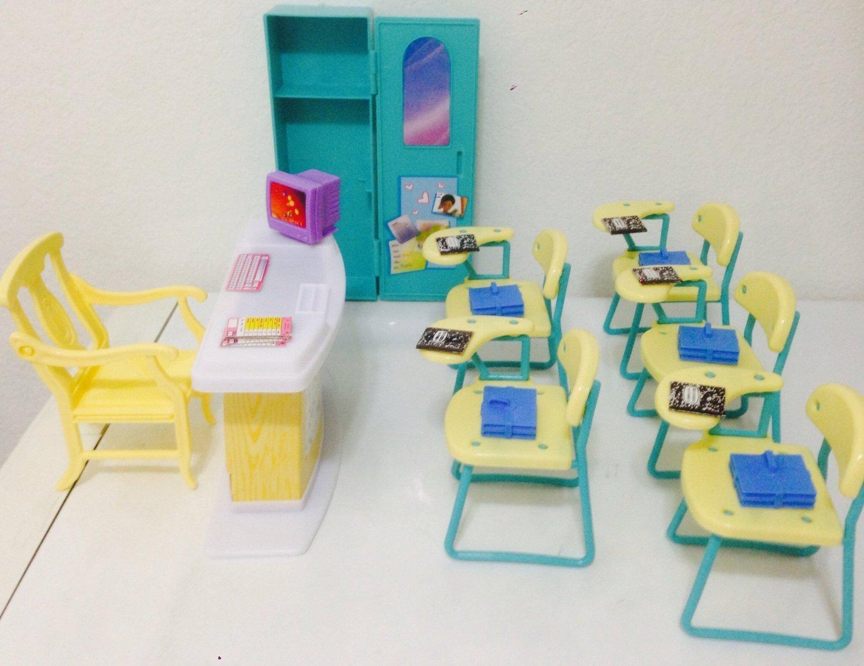 amazoncom barbie size dollhouse furniture classroom play set toys games amazoncom barbie size dollhouse