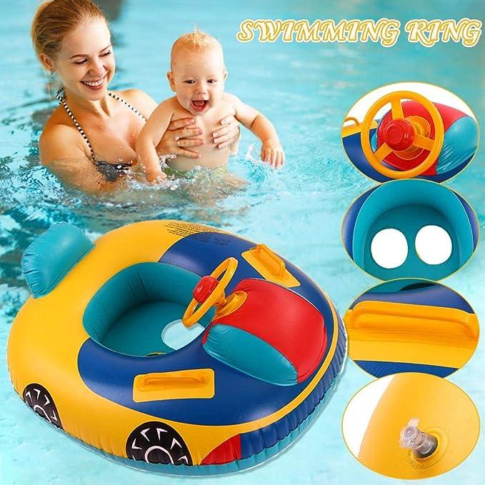 Flotador para niños, yate con volante, colchón de aire ...