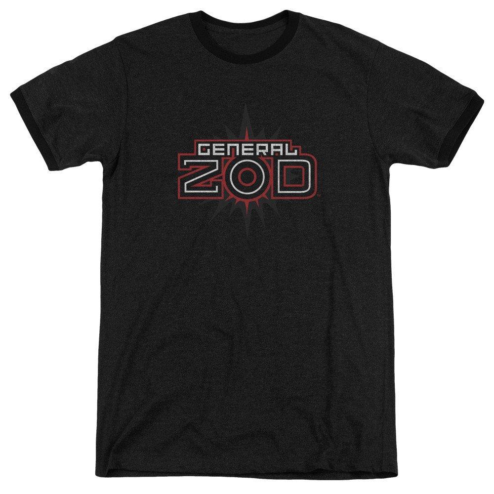 Sons of Gotham Superman Shirt M Zod Logo Adult Ringer T