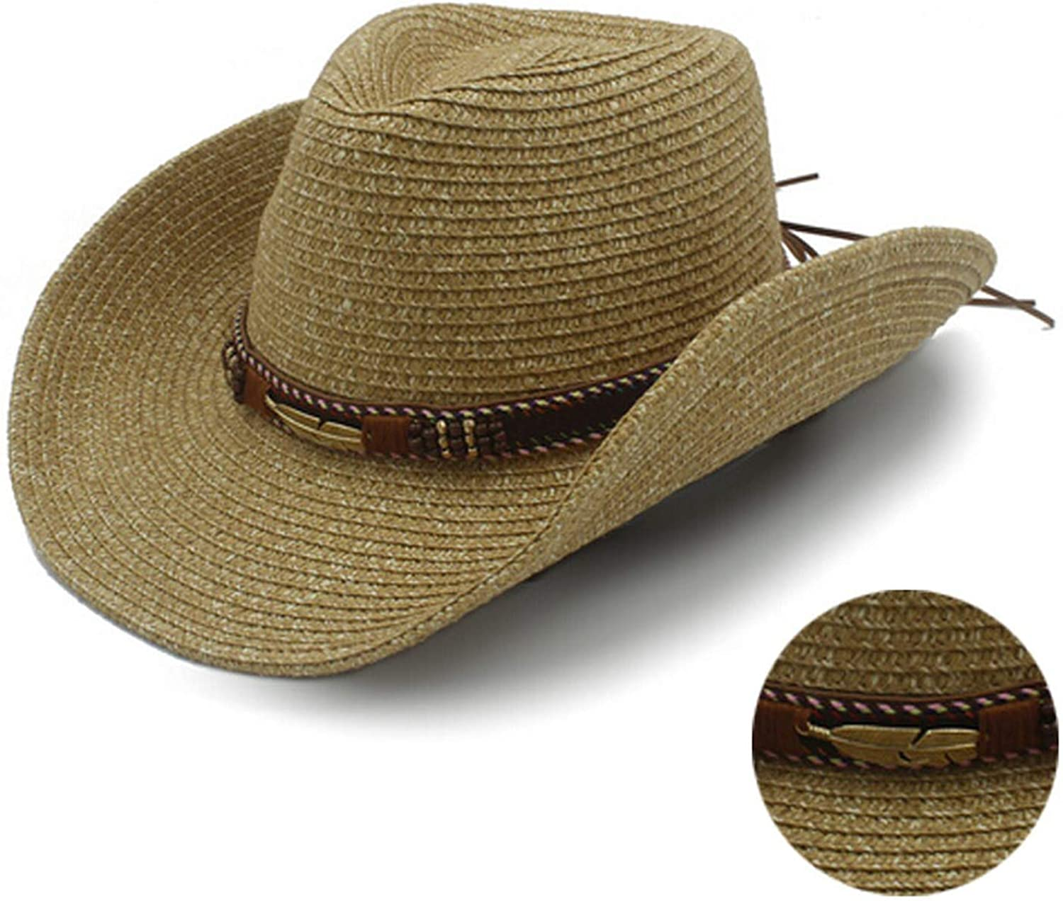 Summer Floppy Straw Hats for Men Casual Vacation Travel Sun Hats Male Beach Hats