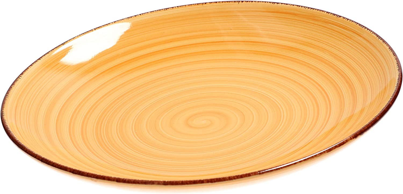 MamboCat 6 pi/èces Lot de 6 Assiettes Plates en Porcelaine pour 6 Personnes I 6 Couleurs 25,5 cm Passe au Lave-Vaisselle