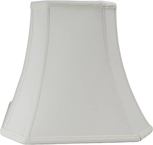 Cut Corner Square Bell Shaped Lampshade, White 16 Inch by UpgradeLAMPS