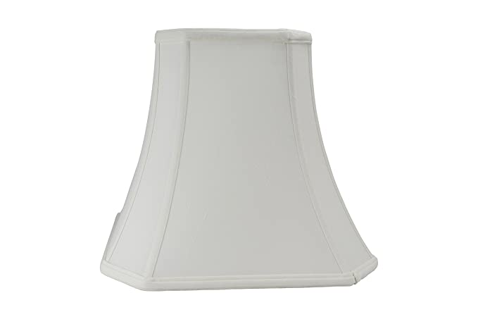 Cut Corner Square Bell Shaped Lampshade White 16 Inch By