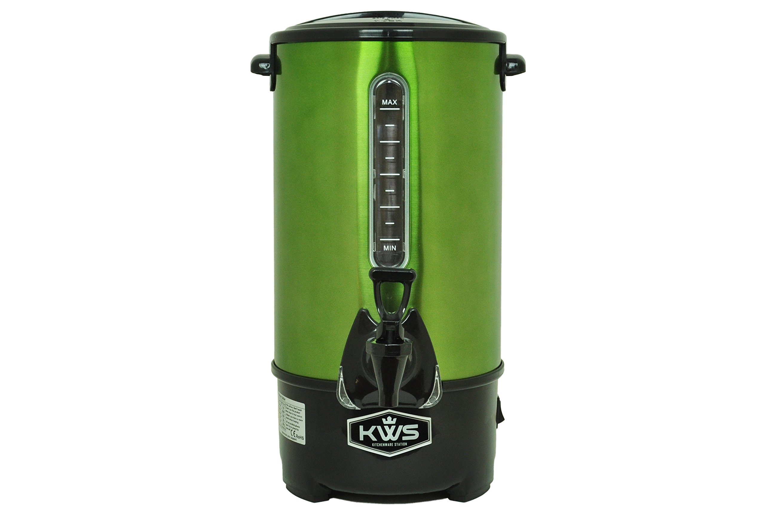 KWS WB-10 9.7L/41Cups Commercial Heat Insulated Water Boiler and Warmer Stainless Steel (Green) by KitchenWare Station (Image #1)