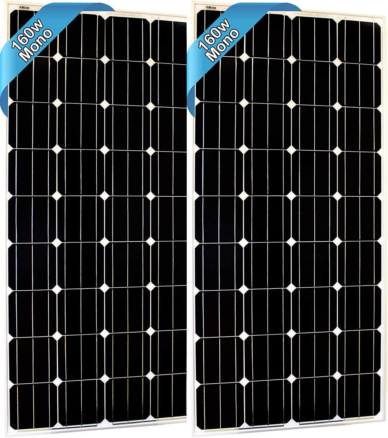 SEC 160 120 320 Watt Monocrystalline 160W 12V Solar Panel High Efficiency Mono Module RV Marine Boat Off Grid 160 WATT Mono 2X 160WATT Mono