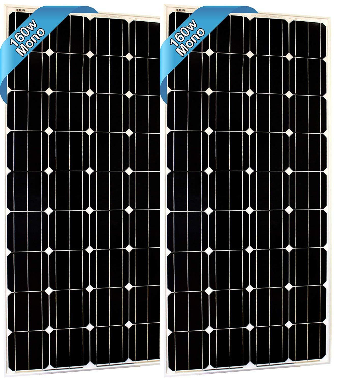 SEC 160 120 320 Watt Monocrystalline 160W 12V Solar Panel High Efficiency Mono Module RV Marine Boat Off Grid 160 WATT Mono 2X 160WATT Mono