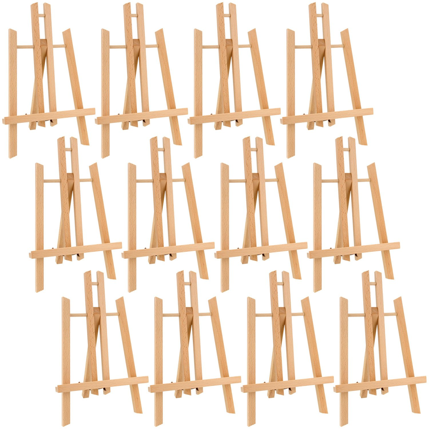 US Art Supply 11'' Tall Small Tabletop Display A-Frame Easel (12-Easels)