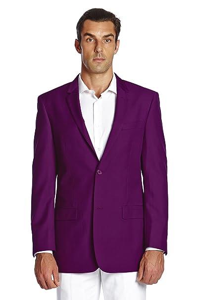 Amazon.com: concitor Hombre Suit chamarra botón Blazer Coat ...