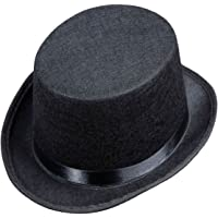 8f8d412ac9c Top Felt Child Size - Black Felt Top Hats Caps   Headwear for Fancy Dress  Costumes