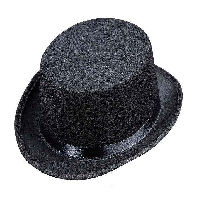 d9bef27e9cb Top Felt Child Size - Black Felt Top Hats Caps   Headwear for Fancy Dress  Costumes Accessory  Amazon.co.uk  Toys   Games