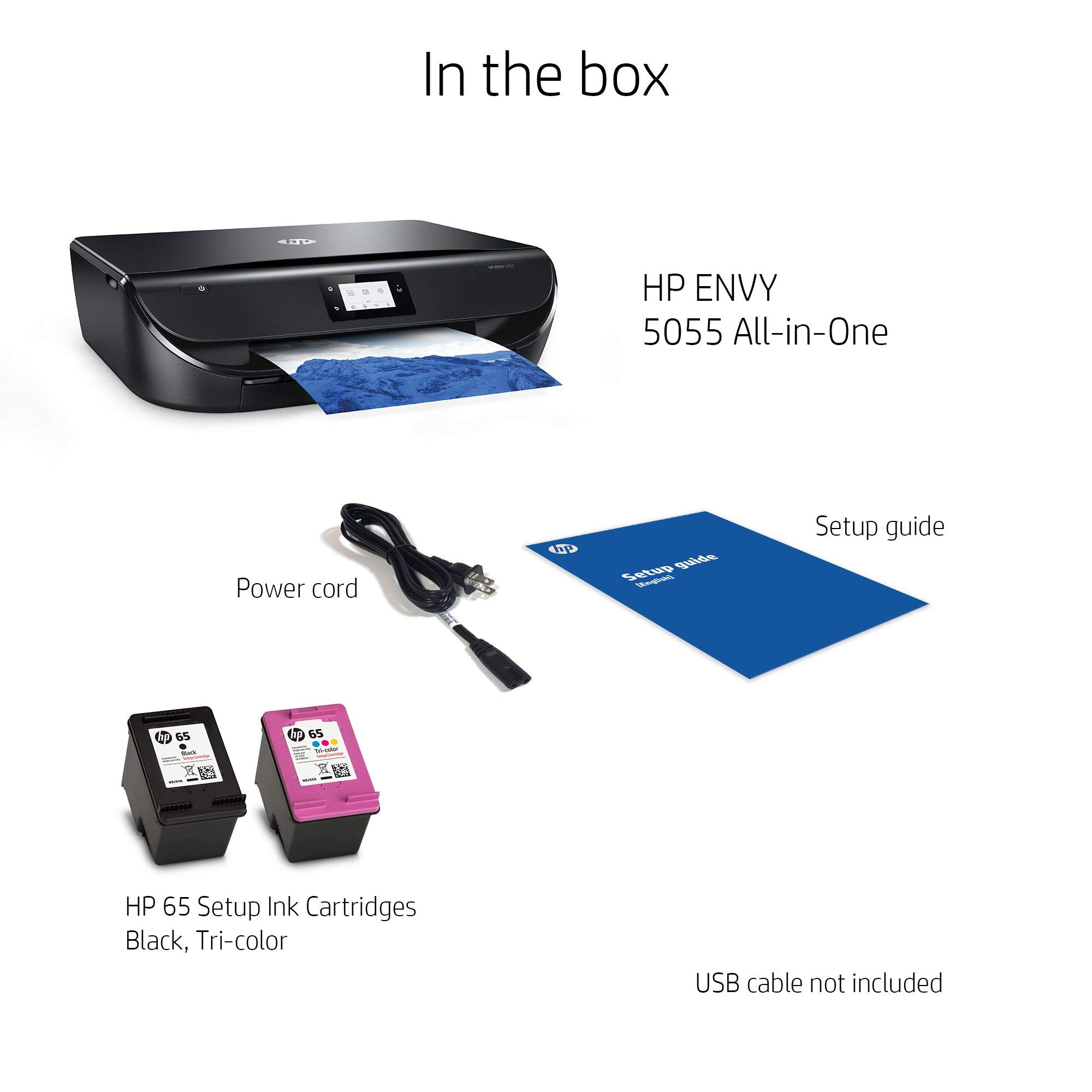 HP Envy 5055 Wireless All-in-One Photo Printer, HP Instant Ink & Amazon Dash Replenishment Ready (M2U85A) (Renewed) by HP (Image #4)