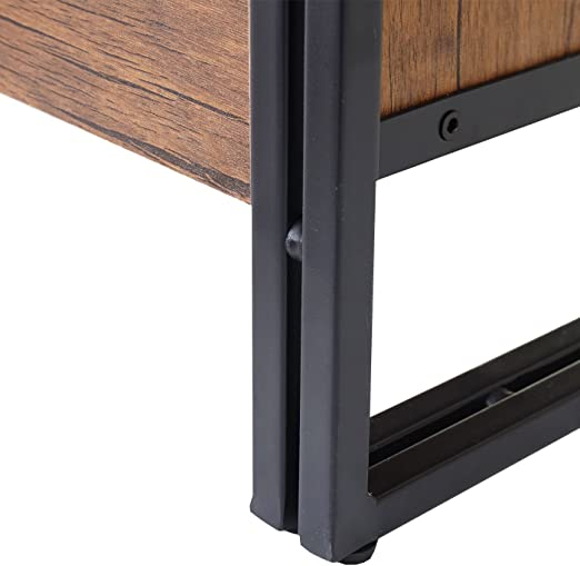Cómoda Aparador diseño hwc-a27 40 x 160 x 80 cm Metal MDF color roble