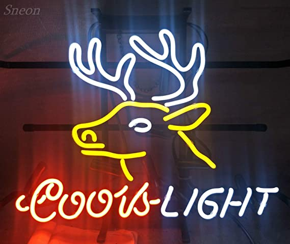 """New Coors Light Deer Beer Neon Sign 17/""""x14/"""" Ship From USA"""