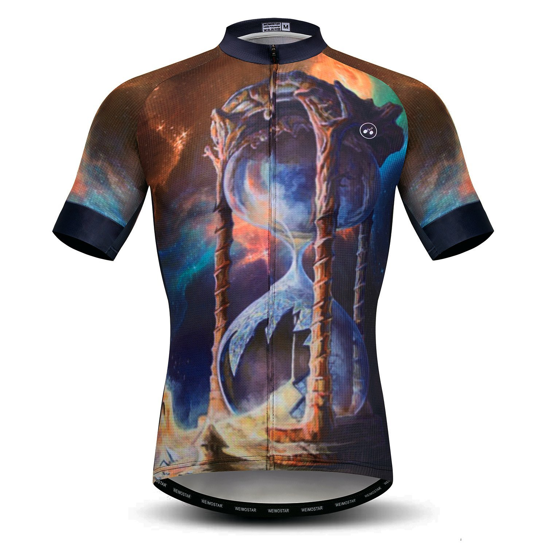 Amazon.com  Weimomonkey Mens Cycling Jersey Short Sleeve T Shirt Cycling  Top Breathable Bike Biking Shirts Yellow L  Clothing d6560e198