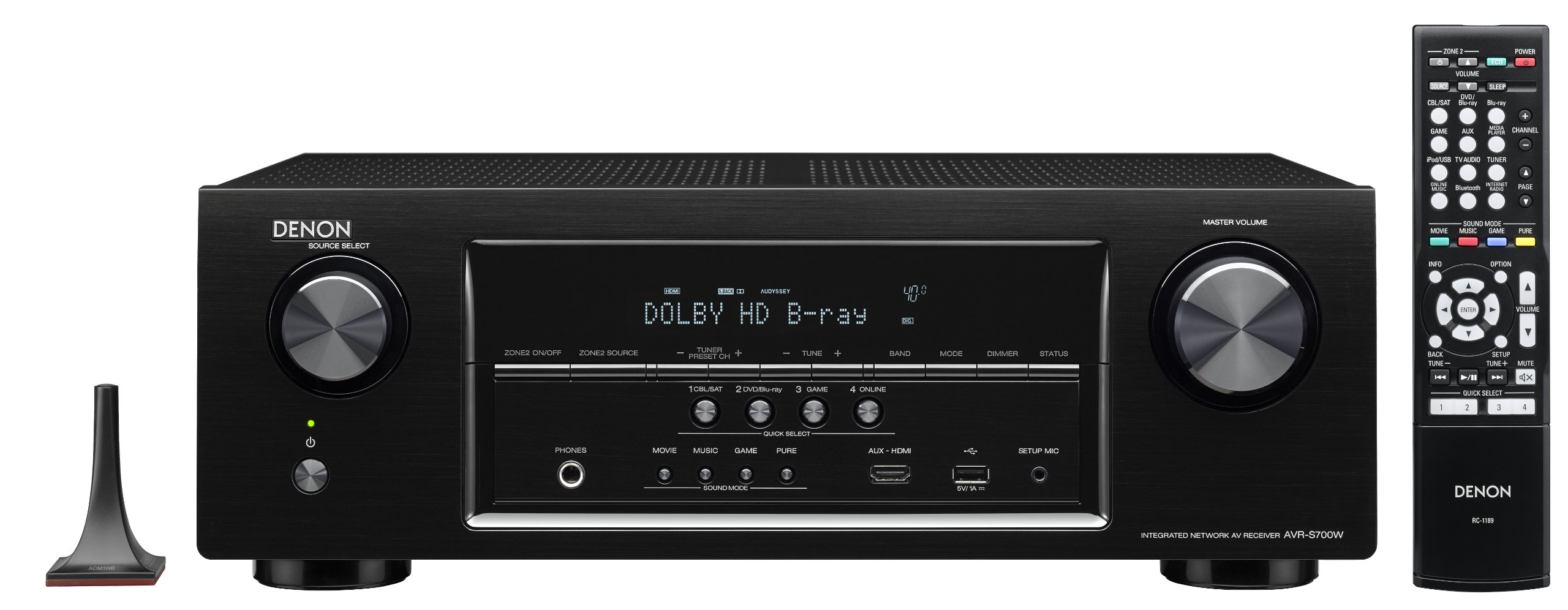Denon AVR-S700W 7.2-Channel Network AV Receiver with Bluetooth and Wi-Fi (Discontinued by Manufacturer) by Denon