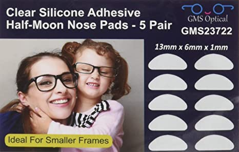 Frienda 10 Pares Almohadillas de Nariz Adhesivas Almohadillas de Gafas de Silicona Antideslizantes para Gafas y Gafas de Sol
